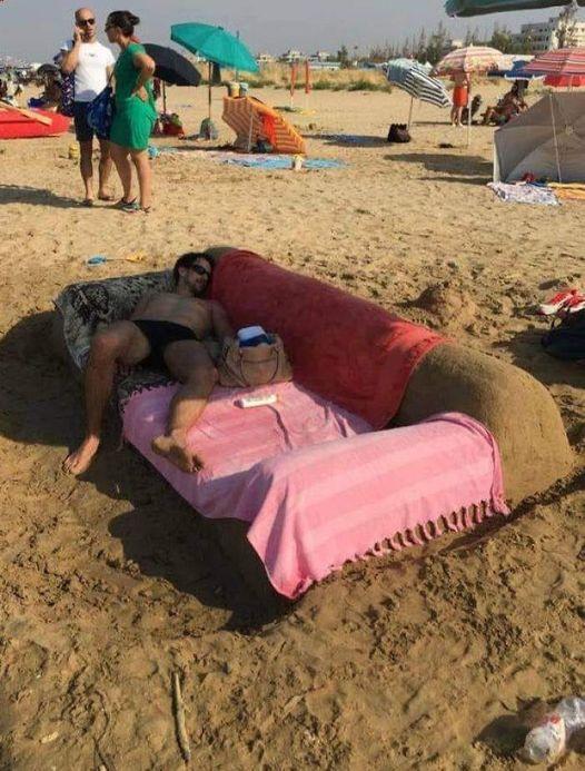 """- """"Бах тоа песък още са нее сгреЯл!"""""""